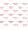 seamless pattern of pink lips with white glare vector image