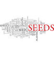 seed word cloud concept vector image vector image