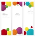 Set of abstract template banner with color circles vector image
