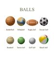 set of sport balls design elements vector image