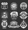 set vintage car service labels badges vector image vector image