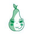 silhouette kawaii cute tender pear fruit vector image vector image