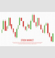 stock market business background vector image