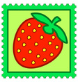 Strawberry stamp vector image vector image