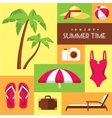 Summer icons set 2 vector image