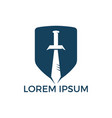 sword guardian logo design vector image vector image