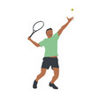 tennis player isolated drawing vector image