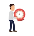 time clock watch icon vector image vector image
