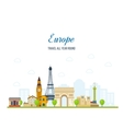 Travel to Europe French and England landmarks vector image vector image