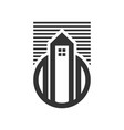 urban city tower house skyline icon vector image