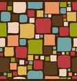 vintage doodle squares background vector image vector image