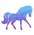 Wild horse gradient ornament ethnic vector image vector image