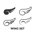 wing set graphic icon design template vector image