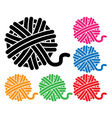 yarn ball icons vector image vector image