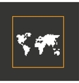 Simple style pixel icon continents design vector image