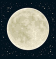 full moon vector image