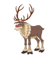 Christmas red nose reindeer Rudolph with vector image