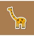 paper sticker on stylish background Kids toy vector image