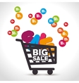 shopping cart sale offer design vector image