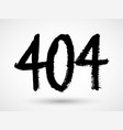 404 not found problem disconnect concept grunge vector image vector image
