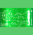 abstract background technology concept in green vector image vector image