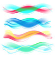 abstract colored wave set vector image vector image