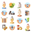 Acne Flat Icon Set vector image