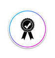 approved or certified medal with ribbons and check vector image vector image