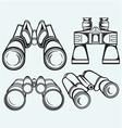 binoculars set icon vector image