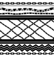 Black and white seamless in ethnic style vector image vector image