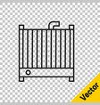 black line car radiator cooling system icon vector image vector image