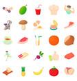 body check icons set cartoon style vector image vector image