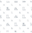 boot icons pattern seamless white background vector image vector image