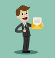 businessman or manager has a lot of emails he vector image vector image