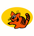 cartoon character a cheerful ginger cat vector image