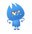 Cartoon image of funny blue monster vector image