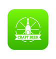 craft beer icon green vector image