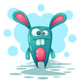 crazy cute funnt rabbit characters vector image