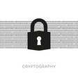 cryptography concept with lock and binary code vector image vector image