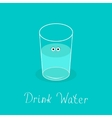Cute glass with eyes Drink water Infographic vector image vector image