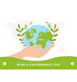 earth day colorful postcard on white background vector image