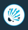explosive icon colored symbol premium quality vector image vector image