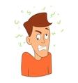Fear icon cartoon style vector image