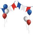 france flag balloons design vector image