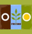 fresno city flag vector image vector image