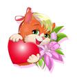 gentle kitty vector image vector image
