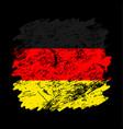 germany flag grunge brush background old brush vector image