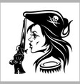 girl pirate vector image vector image