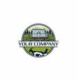 greenhouse farm logo vector image