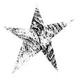 Grunge Star Original vector image vector image